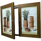 Tapa contador cuadro de luz Moldura c/cuelga llaves 2 puertas,m/ext 42 Alto x 54 Ancho x 5'7 cms.