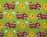 Glünz 0,5m Jersey Feuerwehr grün/Kinderstoff/15,60/m