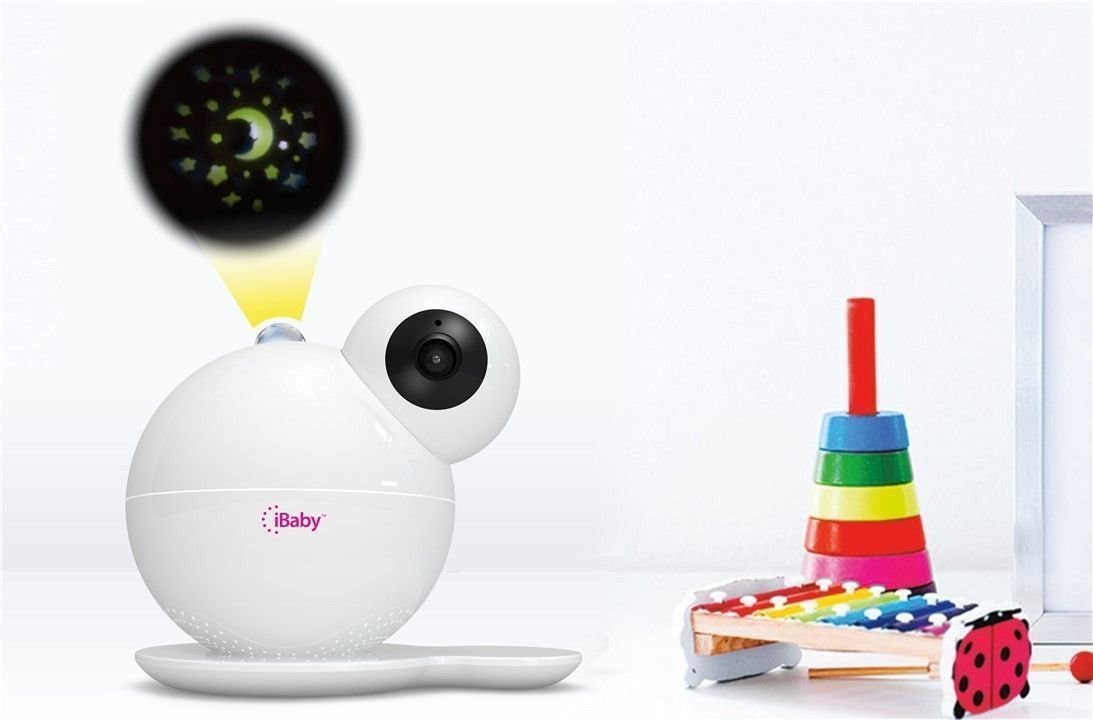 iBaby Care M7 Video Baby Monitor with Moonlight Soother  1080P Video Resolution with Night Vision, 360 Rotation Built-in Colorful Moonlight Soother TVOC air quality sensor;Temperature /Humidity Sensor, Sound / Movement Sensor 2