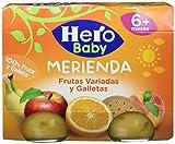 Hero Baby - Babymerienda Frutas Varia Galleta Fruta variada 2 x 190 g - [pack de 3]