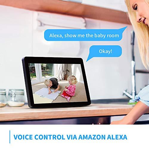 Panamalar WLAN Überwachungskamera,Smart 355°schwenbar 1080P Home Indoor Kamera unterstützt Sprachsteuerung mit Alexa/2 Weg Audio/Nachtsicht usw, innen Kamera für Baby/Haustier gesteuert durch Handy