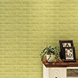Green : 3D Brick Wallpaper,Mingfa PE Foam DIY Wall Stickers, Adhesive Brick Wall Stickers, Removable Wallpaper For Living Room Bedroom (green)