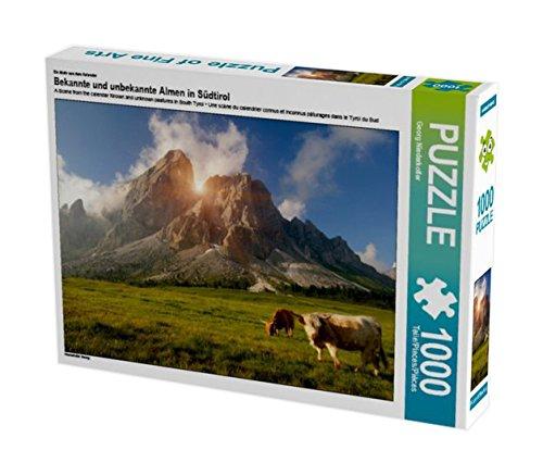 Preisvergleich Produktbild Ein Motiv aus dem Kalender Bekannte und unbekannte Almen in Südtirol 1000 Teile Puzzle quer (CALVENDO Natur)