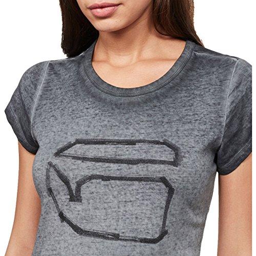 G-Star Damen Oberteile/T-Shirt Thilea Schwarz