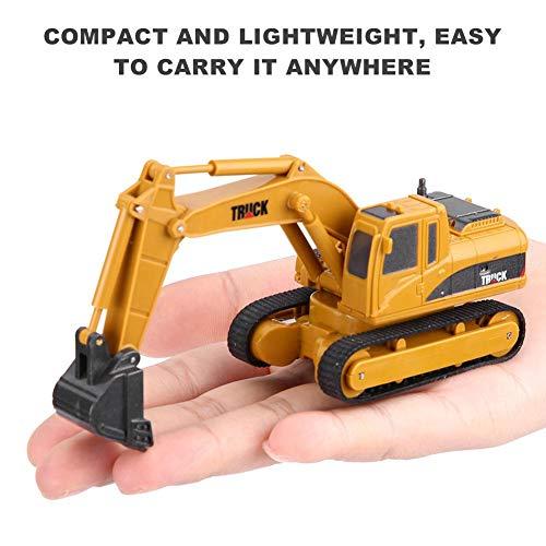RC Auto kaufen Baufahrzeug Bild 3: Dilwe Fernbedienung Bagger Spielzeug, Mini RC Engineering Truck Auto Baufahrzeug Spielzeug Geschenk für Kinder Kinder*