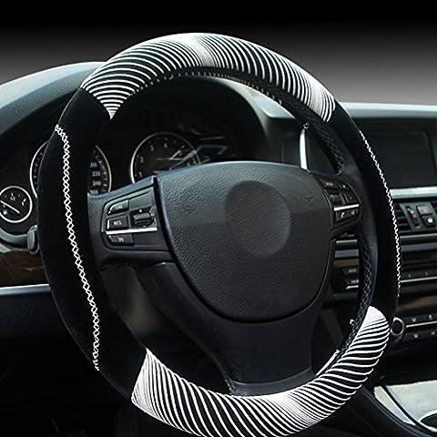 Zhuhaitf pratique Winter Anti Slip Soft Protector Plush Van Auto Car Steering Wheel Cover Winter Accessory 36/38CM Various Color