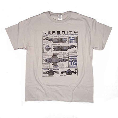 Serenity Ship Blueprint Firefly inspired T Shirt > High-quality long-lasting print > S - 5XL available