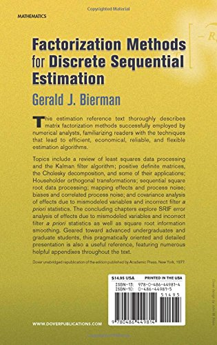 Factorization Methods for Discrete Sequential Estimation (Dover Books on Mathematics)