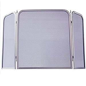 Home Discount® Roxby Fire Screen Spark Guard Square, Nickel