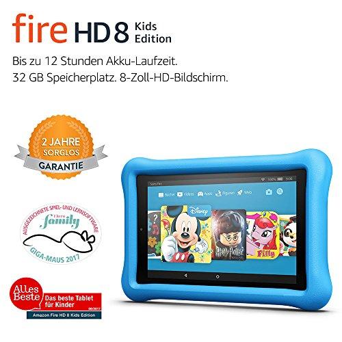Fire HD 8 Kids Edition-Tablet, 20,3 cm (8 Zoll) HD Display, 32 GB, blaue kindgerechte Hülle - 2