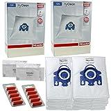 Miele GN Staubsaugerbeutel - Allervac Sensor Solution HEPA Original Hyclean + Filter Sets - 2 Boxen: 8 Beutel, 4 Filter + 10 Erfrischer
