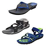 #8: Bersache Men Combo Pack Of 3 Slippers With Sandals