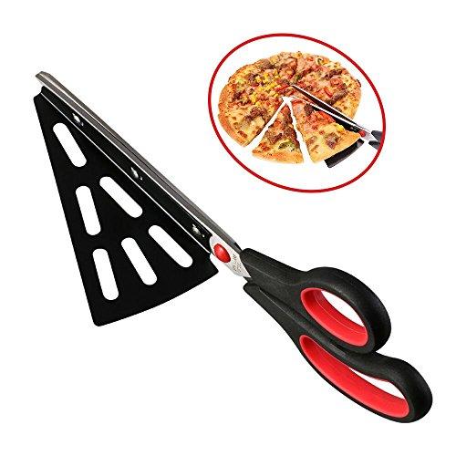 flintronic Acciaio INOX Pizza Scissors, Forbici Taglia con Base, Forbice Taglia-Pizza, Sostituire Pizza Cutter, Multifunzionale, Tagliare il Barbecue(forbici)