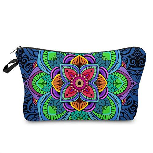 Xuji Kosmetiktasche 3D Digital Gedruckt Stechapfel Muster Make-Up Tasche für Frauen Kosmetiktasche Lagerung Griff Organizer Travel Kit Geldbeutel Taschen Karte Damen Geschenk (blau) -