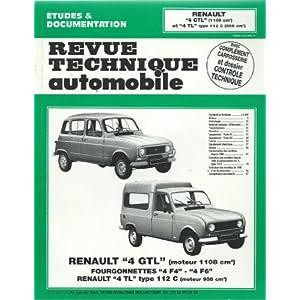 Revue technique automobile, n° 388.5 : Renault 4 GTL (moteur 1108 cm³), fourgonnettes 4 F4, 4 F6, Renault 4 TL type 112 C (moteur 956 cm³)
