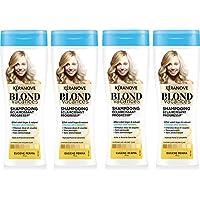 Kéranove Blond Vacances - Shampoo schiarente graduale all'olio di monoï e camomilla,set da 4
