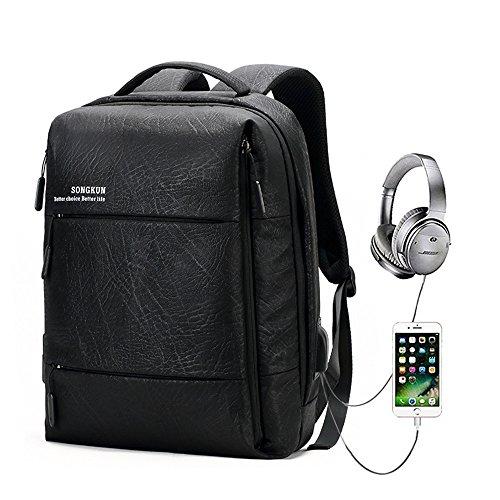Sac à dos Antivol,GENOLD Sac à dos pour ordinateur portable pour 15.6 pouces avec port de charge USB et Port pour Écouteurs,Sac pour voyager/loisir/af...