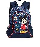 Kinder Rucksack - Disney - Micky Maus - Mickey Mouse - Kinderrucksack - mit Hauptfach und Nebenfach Getränkenetz - schwarz