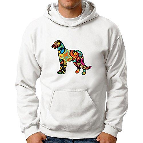 Eddany Psychedelic Irish Wolfhound Hoodie (Wolfhound Irish Hoodie Herren)