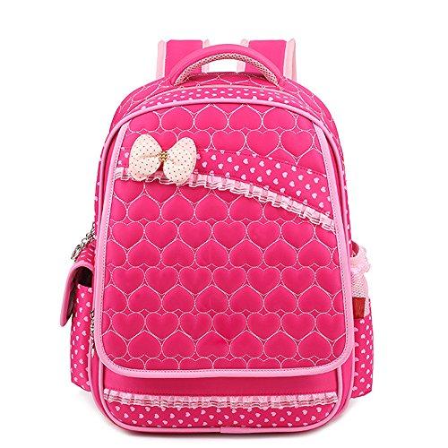 KINDOYO Wasserdichter Rucksack für Kinder Unisex Schultaschen Jungen Mädchen für Reisen, Wandern, Sport Rose Schmetterling