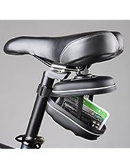 sypure (TM) impermeable reflectante para bicicleta bolsa de sillín de bicicleta bolsa trasera para bicicleta con anilla para colgar EVA para bicicleta de montaña carretera MTB Asiento Pounch