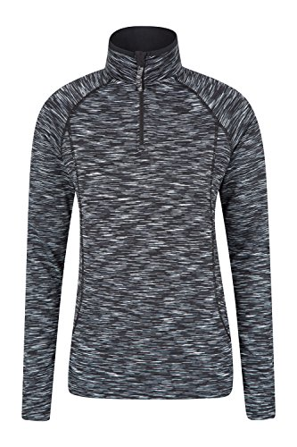 Mountain Warehouse Chakra Space Dye Midlayer für Damen Pulli sportlich Kompressionstop laufen radfahren joggen Schwarz DE 42 (EU 44) (Sweatshirt Dye Schwarz)