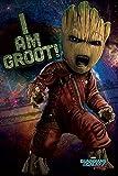 Guardians of the Galaxy 2 - Vol.2 - Angry Groot - Film Poster Plakat Druck - Größe 61x91,5 cm + 1 Ü-Poster der Grösse 61x91,5cm