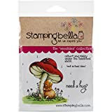 Stamping Bella Cling Rubber Stamp 6.5-inch x 4.5-inch, Gilbert and Maisy Under The toadstool