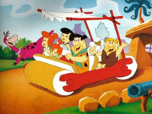 Kinder, gerahmt, die Flintstones 61x 50,8cm, Leinwanddruck von Canvas35, mehrfarbig, 127x 50x ()