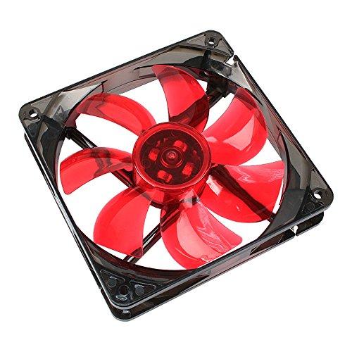 Cooltek Silent Fan 120 Red LED Boitier PC Refroidisseur - Ventilateurs, refoidisseurs et radiateurs (Boitier PC, Refroidisseur, 12 cm, 1200 TR/Min, 108,2 m³/h, 80000 h)