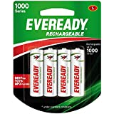 Eveready Rechargeable AA Battery, 04 Pieces Pack, White (1000 Series, BP4 700 NIMH)