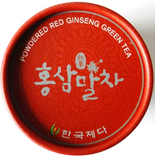 Hongsam Garucha 40g /Koreanischer Roter Ginseng + Koreanischer Grüner Tee Pulver 40g/