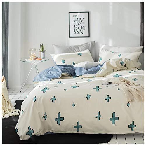 HLJ DCS Kinderbettwäsche Set Bettwäsche-Set(3 Stück) 1Bettdeckenbezug 1 Spannbettuch 1 Kopfkissenbezug Weiche Bedruckte Aus 100% Baumwolle Für Doppelbett