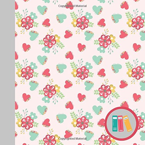 Cutesy Girl Flowers and Hearts Modern Square Reading Log Journal for Book Lovers (Contemporary Book Log Journals for Avid Readers) por Currant Lane