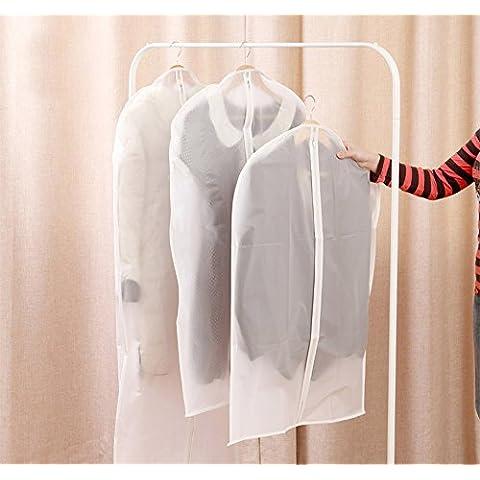 asentechuk® 2pcs Translucence antipolvere vestiti Garment Suit Cover, Vestito Schermo Coat, Organizer Storage Bag, Translucence, 57 × 135cm