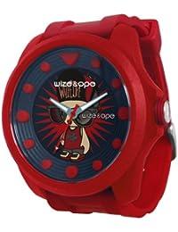 Wize & Ope BIG-3 - Reloj analógico de cuarzo unisex, correa de poliuretano color rojo