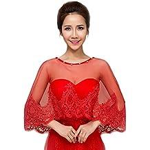 Chal de novia para mujer, JUNGEN Moda Chal de Encaje Adecuado para combinar vestidos de