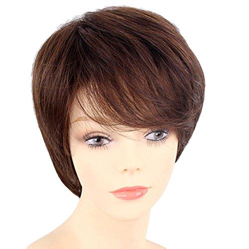 Sharplace Frauen Kurze Natürlich Gewellt Perücke Haarperücke für -