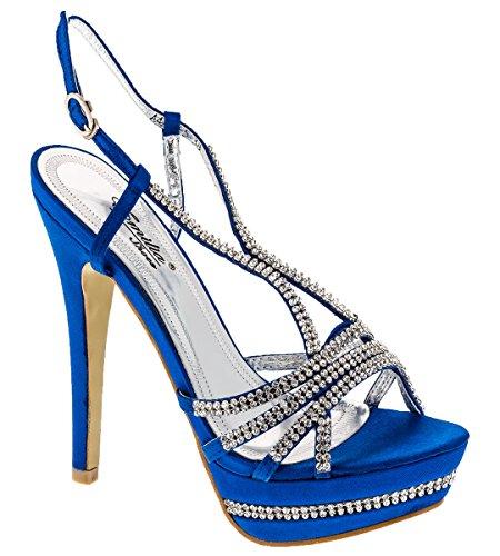 Shayenne , Chaussons montants femme Bleu