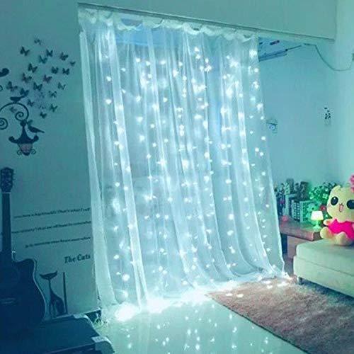 YAMADIE LED-Vorhang Lichter Low Voltage USB Plus Batterie Box Mit Fernbedienung Urlaub Dekoration Lichter 8 Programm Timer Dekorative Lichter Innenbeleuchtung, Garten (Low-voltage-beleuchtung-timer)