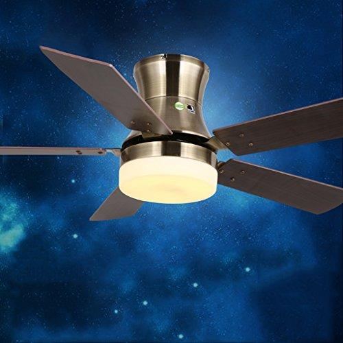 Ultrathin Deckenventilator Licht LED Modernes Simple Single Lampe Fan Kronleuchter Esszimmer Lampe Wohnzimmer weiß elektrischer Lüfter 30W vierfarbige Leichtes wechseln Aussehen Patent Glas Lampenschirm Deckenventilatoren mit Lampe messing