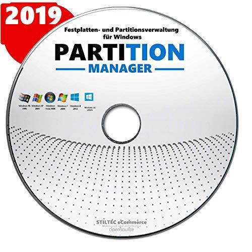 Partition Profi- Festplatte HDD Partition>Löschen> Bearbeiten>Verwalten Windows 10-8-7-Vista / 32 & 64 bit CD DVD - Festplatte Löschen