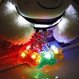 #4: LoveFurPaws Pet Dog Cat ID Tags LED Flash Bone Safety Pendant With Circular Light Clip