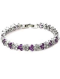 findout swarovsky elemento señoras de las pulseras de lujo del partido zircones cristal de la manera de boda cúbico. para las mujeres niñas