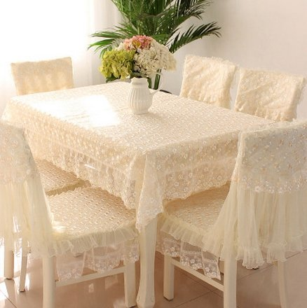 Generic Lace Round/Square Tablecloth Chair Cover Cushions Embroidered Table Cover 90Cm*90Cm Table Cloths at amazon