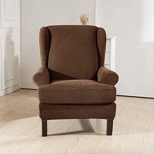 DINDAL Stuhlabdeckung Schrägarm King Back Chair Cover Elastische Sessel Wingback Wing Sofa Zurück Stuhl Abdeckung Stretch andere Kaffee