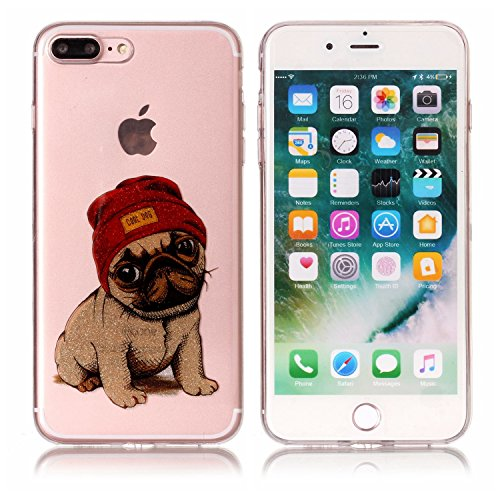 Coque Cover iphone 7 Plus, Cozy Hut iphone 7 Plus Coque Housse Etui anti chocs Back Cover Bumper Case Anti Scratch Shock Absorption for iphone 7 Plus Souple Silicone Etui iphone 7 Plus Housse étui de  chiot