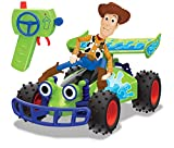 Dickie- Toy Story 4 - Mando a Distancia Buggy con Woody, 1:24, 20 cm, Color Verde, 201134005