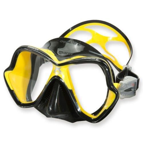 Mares Erwachsene Mask X-Vision Ultra LS Taucherbrille, Schwarz/Gelb, BX -