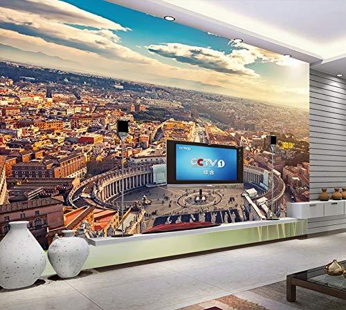 Panorama-Wandbild Benutzerdefinierte Fototapeten 3D Europäischen Und Amerikanischen Stadt Wohnzimmer Hintergrund Tapete Für Schlafzimmer Wände - Amerikanischen Stadt